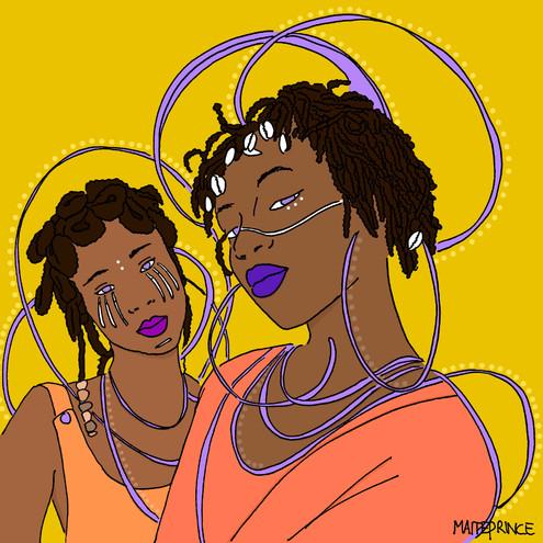 Maite Prince - Oshun duo portret