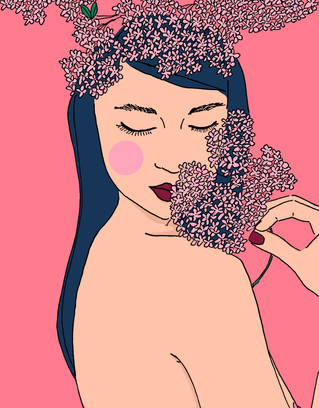 Maite Prince - flower bomb illustrations