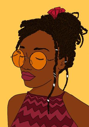 Maite Prince - afro punk portret