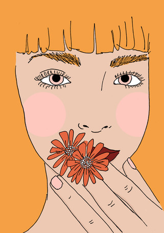 Maite Prince - flower kisses portret