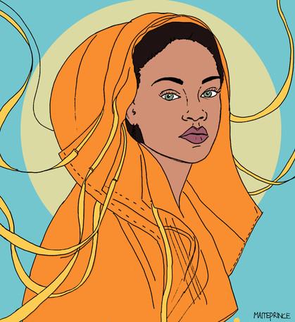 Maite Prince - Rihanna illustration portret