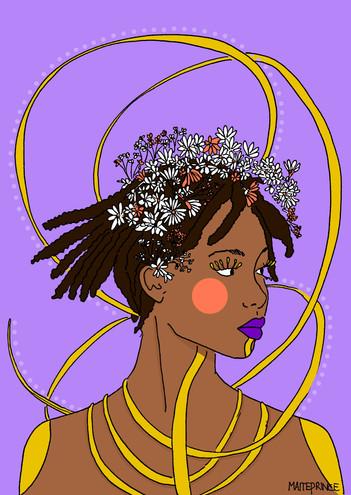 Maite Prince illustration - Oshun left