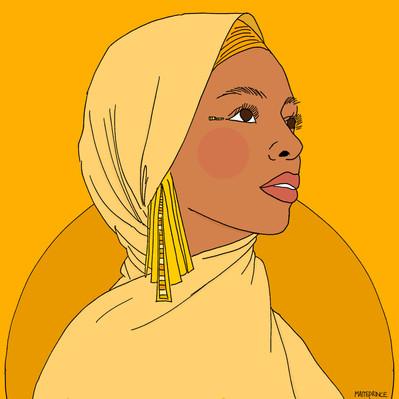 Maite Prince - sunny girl yellow illustration