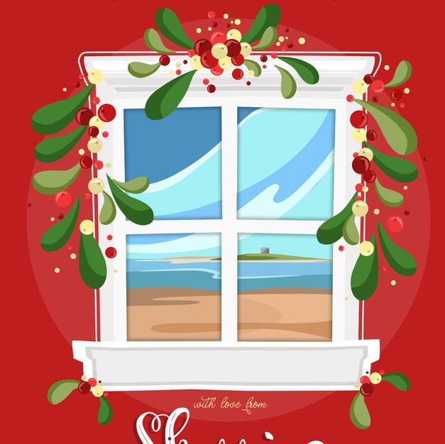 Skerries Christmas Window Card