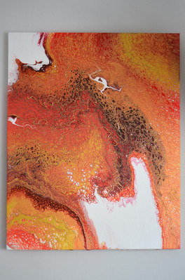 'Fire & Lava' 20x16 inch on canvas