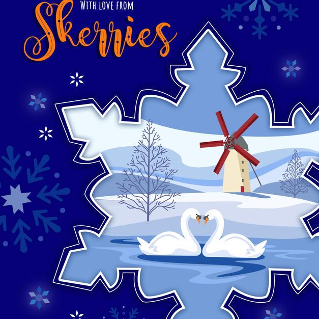 Skerries Mills Snowflake Card