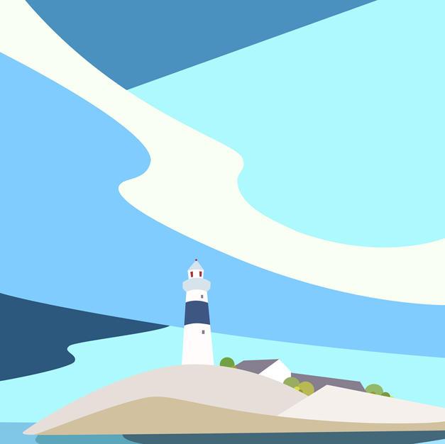 Skerries Rockabill Lighthouse Print