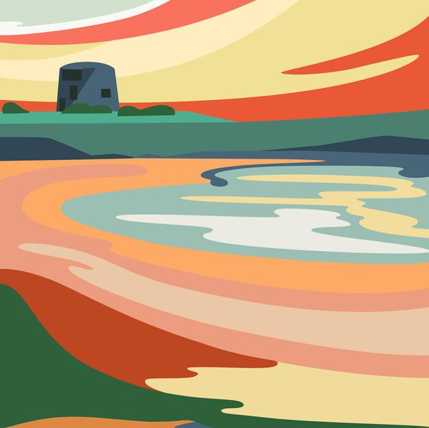 Skerries Martello Tower Print