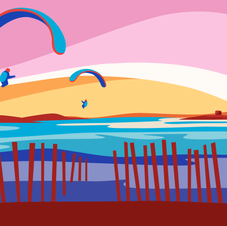'Sunset Paragliding' Print