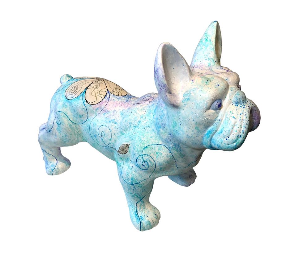 De Franse Bulldog Lichtblauw