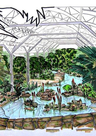 Ontwerp van de Royal Botanical Garden Kuwait.