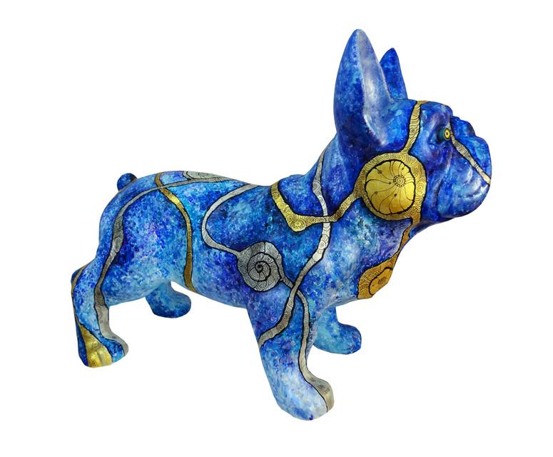 De Franse Bulldog Blauw