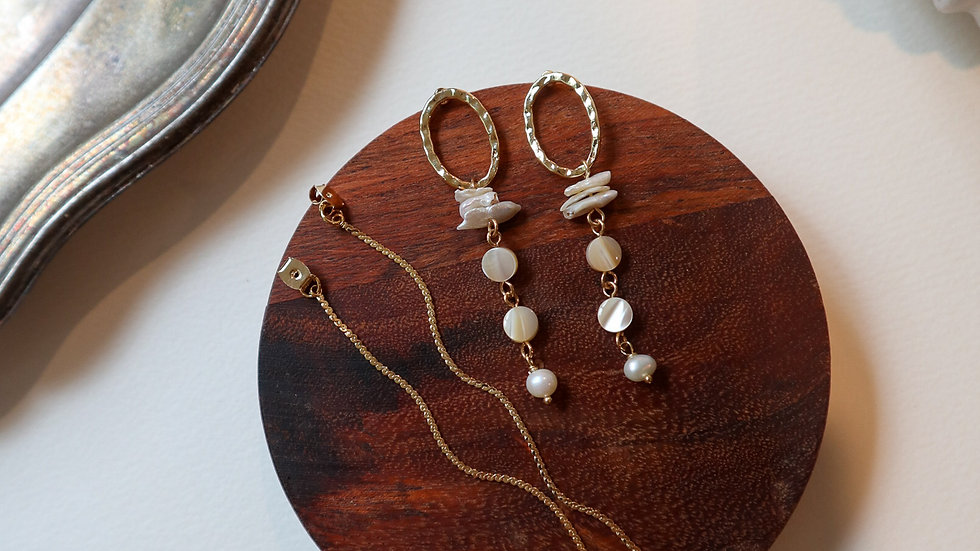 Narin Mother of Pearl Earrings