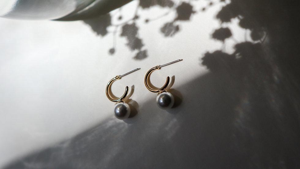 Mini Pearl Hoop Earrings