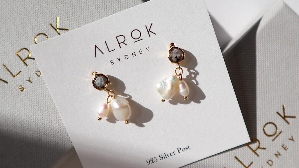 Labradorite Stud Earrings