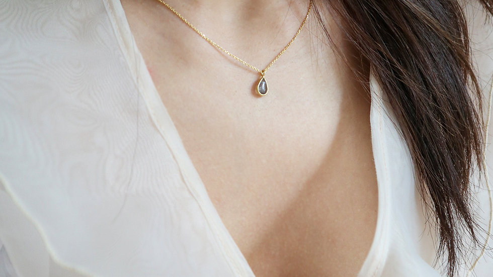SGN11 Simple Stone 925 Silver Necklace