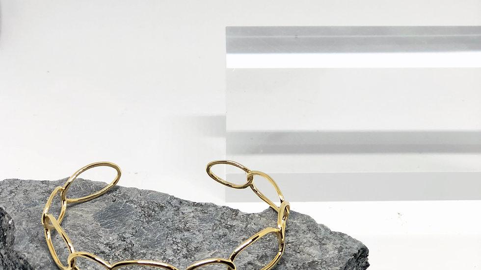 14K Gold Plated Link Bangle