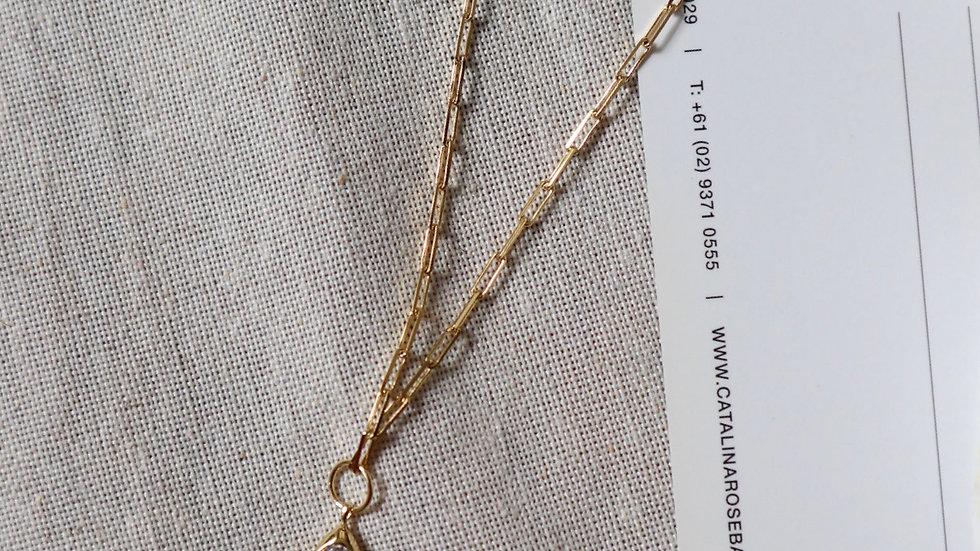 Tear Drop Drawn Chain Silver Necklace