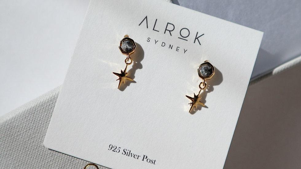 Stardust Labradorite Stud Earrings