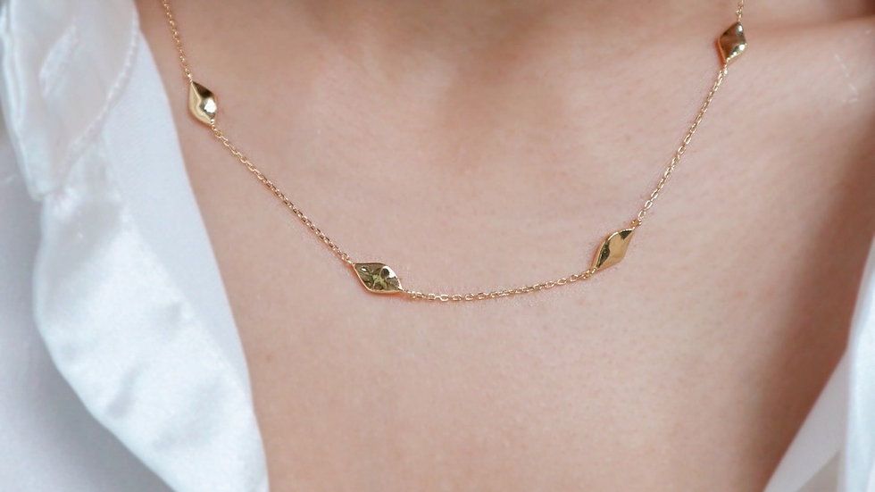 Rhombus Chain Silver Necklace