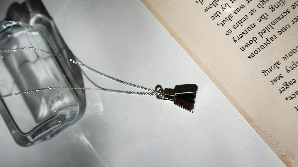 SGN42 Perfume Silver Necklace - Silver