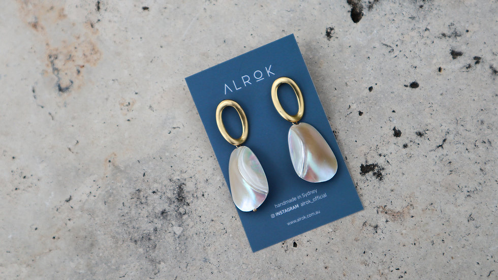 Hollow Mother of Pearl Earring