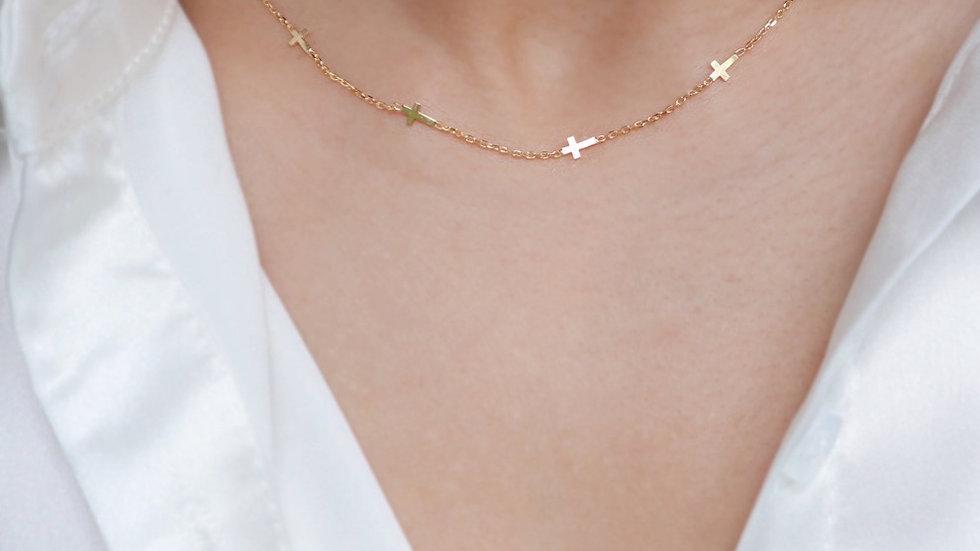 Dainty Cross Silver Necklace