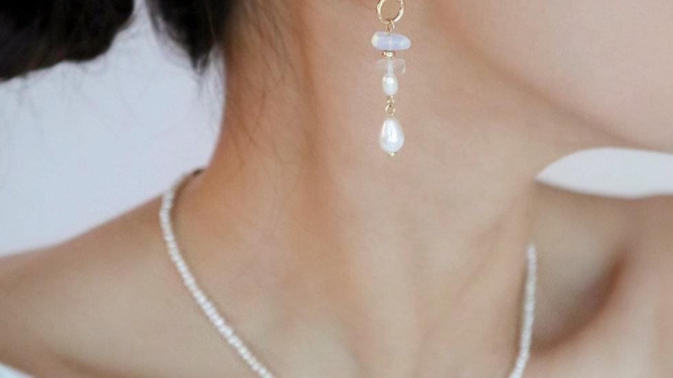 Garden Pearl Drop Earrings