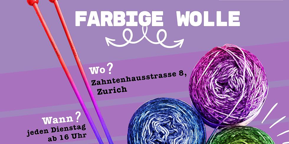 Farbige Wolle, Häkel / Knitting Atelier