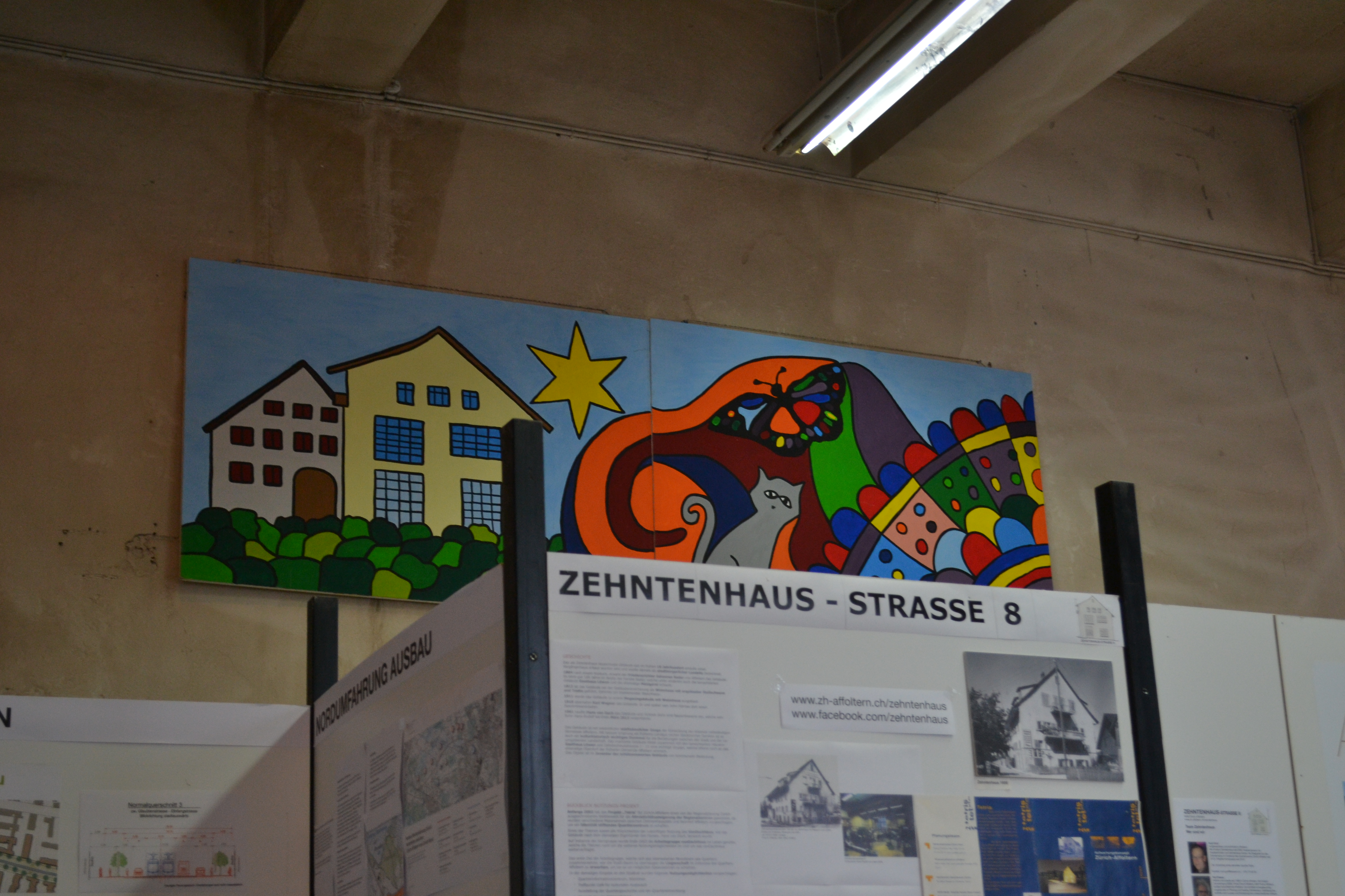 Wandmalerei von Unterdorffest 2017