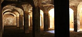 Cathédrale Souterraine de Saint-Martin de Pallières, plus grande citerne d'Europe au 18ème siècle et inscrite aux Monuments Historiques. Var. Visites. Saint-Maximin la Sainte-Baume