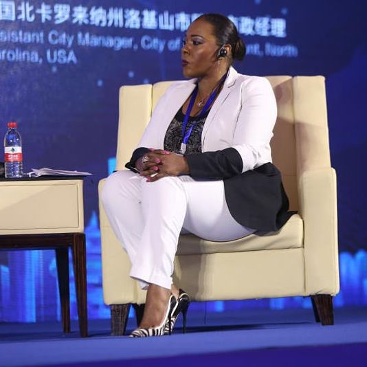 Natasha Hampton Speaks at goverment conference in China