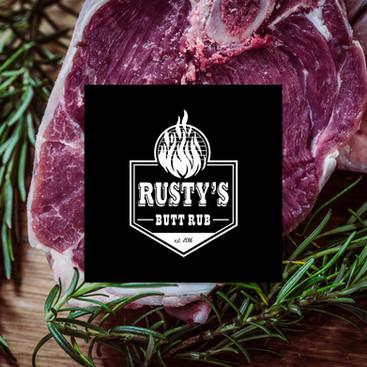 Rusty's Butt Rub White Logo