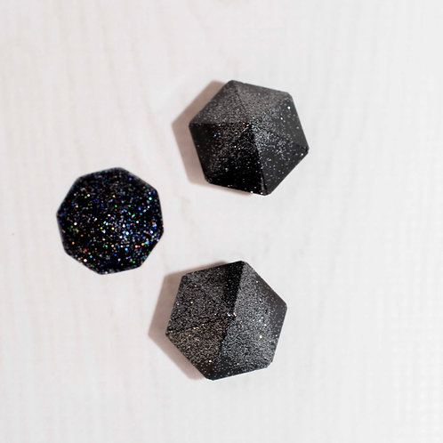 Set of 3 Black Diamond Stud DIY Phone Grips
