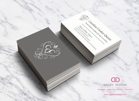 Business Card Design and Branding for Carolina Cookie Queen