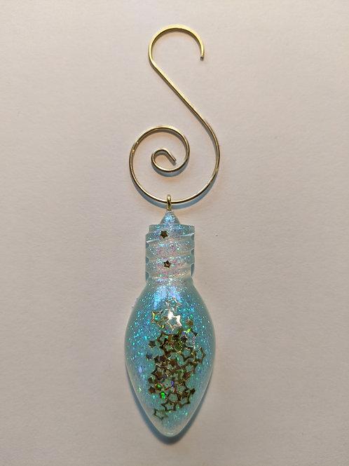 Clear Resin Bulb Ornament - New Snow