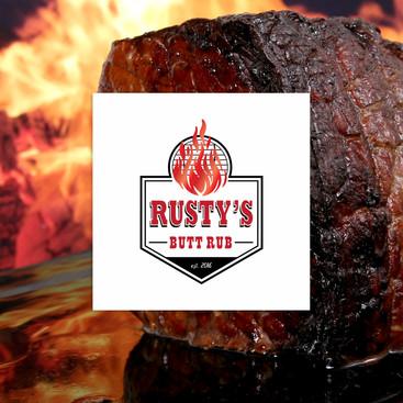 Rusty's Butt Rub Full Color Logo