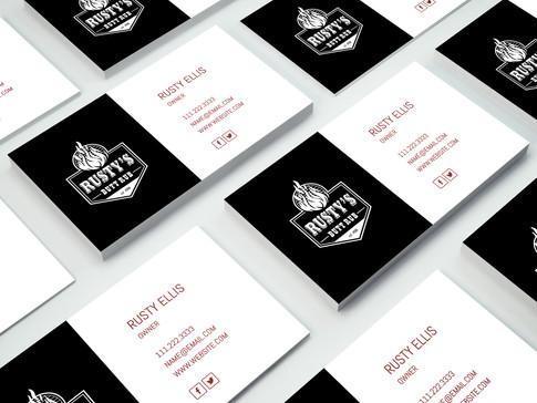 Rusty's Butt Rub Logo, Business Cards, & Branding