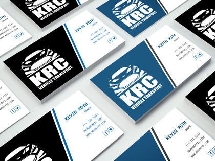 KRC Vehicle Transport Logo Design & BrandingKRC Vehicle Transport Logo Design & Branding
