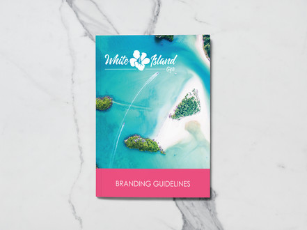 Style Guide design and branding for White Island Gifts