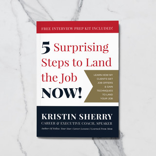 5 Surprising Steps to Land the Job Now! Book Cover Design by Davies Designs Studio