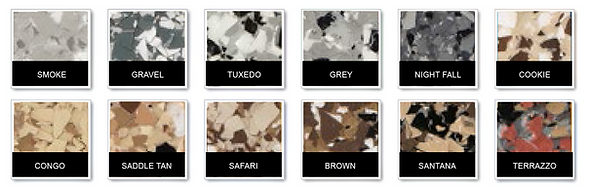 Standard Epoxy Floor Color Options