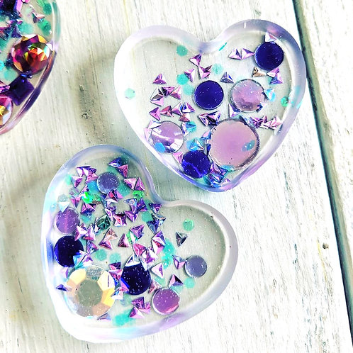 """Share a Little Love""Resin Heart Keychains"