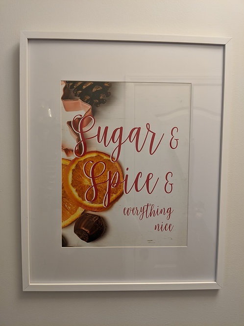 """Sugar & Spice"" 17""x21"" Framed Holiday Print"