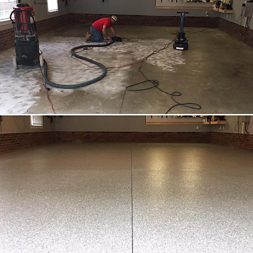 Carolina Garage Floor Plus Before and After