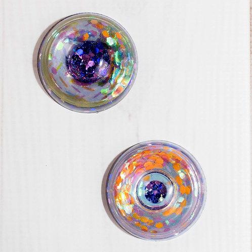 Starry Night Glitter Donut Shaker DIY Phone Grip / Paperweight