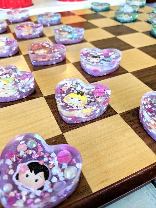Disney Princess vs. Disney Characters Kid's Checkers Set (24 pcs)