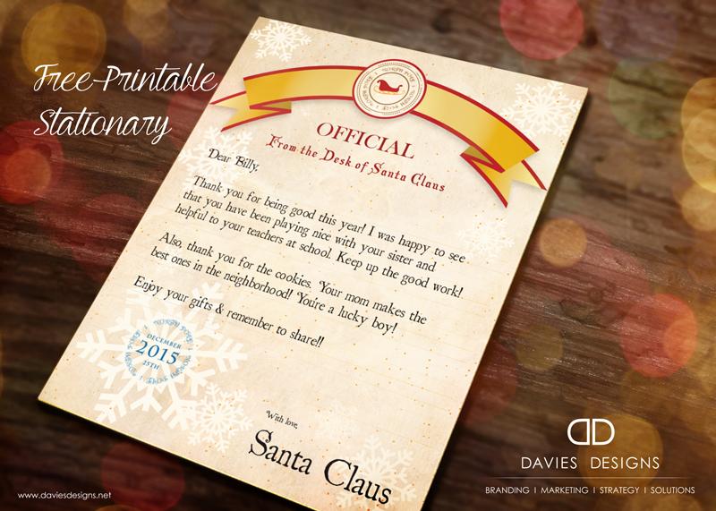 2018 Letter from Santa - Printable