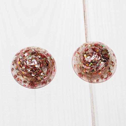 Pink Champagne Glitter Cupcake DIY Phone Grip / Paperweight