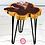 Thumbnail: Cedar Geode Industrial Glam Side Table w/Genuine Pink Quartz Crystals